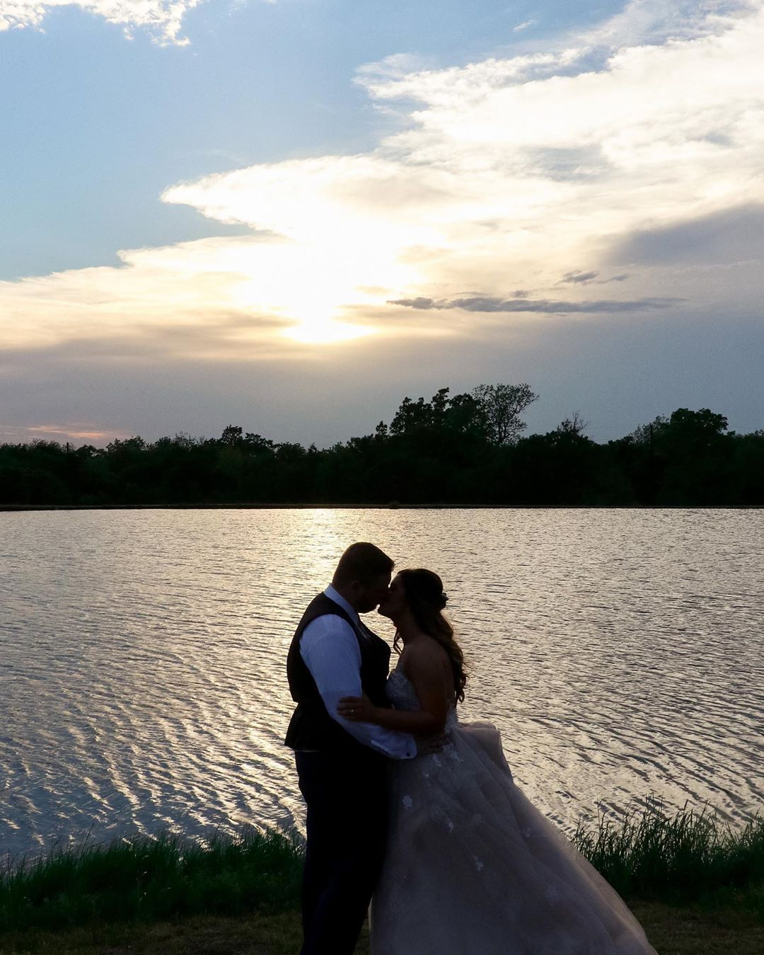 Another beautiful sunset over ranch outdoor ranch wedding ...