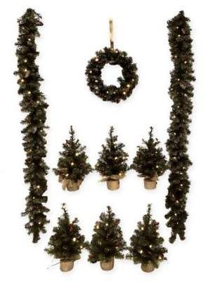 bed bath beyond battery operated pine garland holiday decoration in green 10 pack all christmas pinterest pine garland