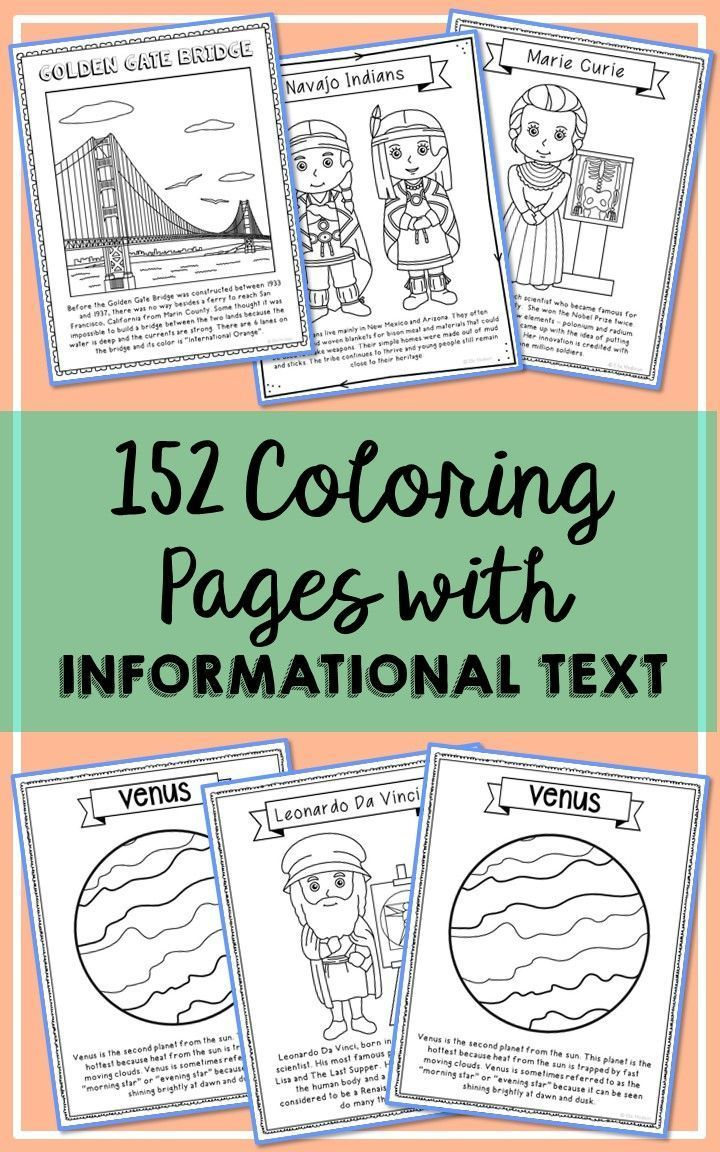 SET OF 186} Historical Figure Biography Coloring Pages Crafts or ...