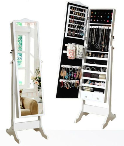 Full Length Freestanding Mirror Jewellery Storage Cabinet