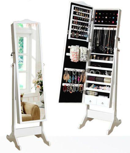 Bedroom Furniture Standing Mirror Jewelry Cabinet Box Jewelry Cabinet Jewelry Storage Cabinet Mirror Jewelry Storage