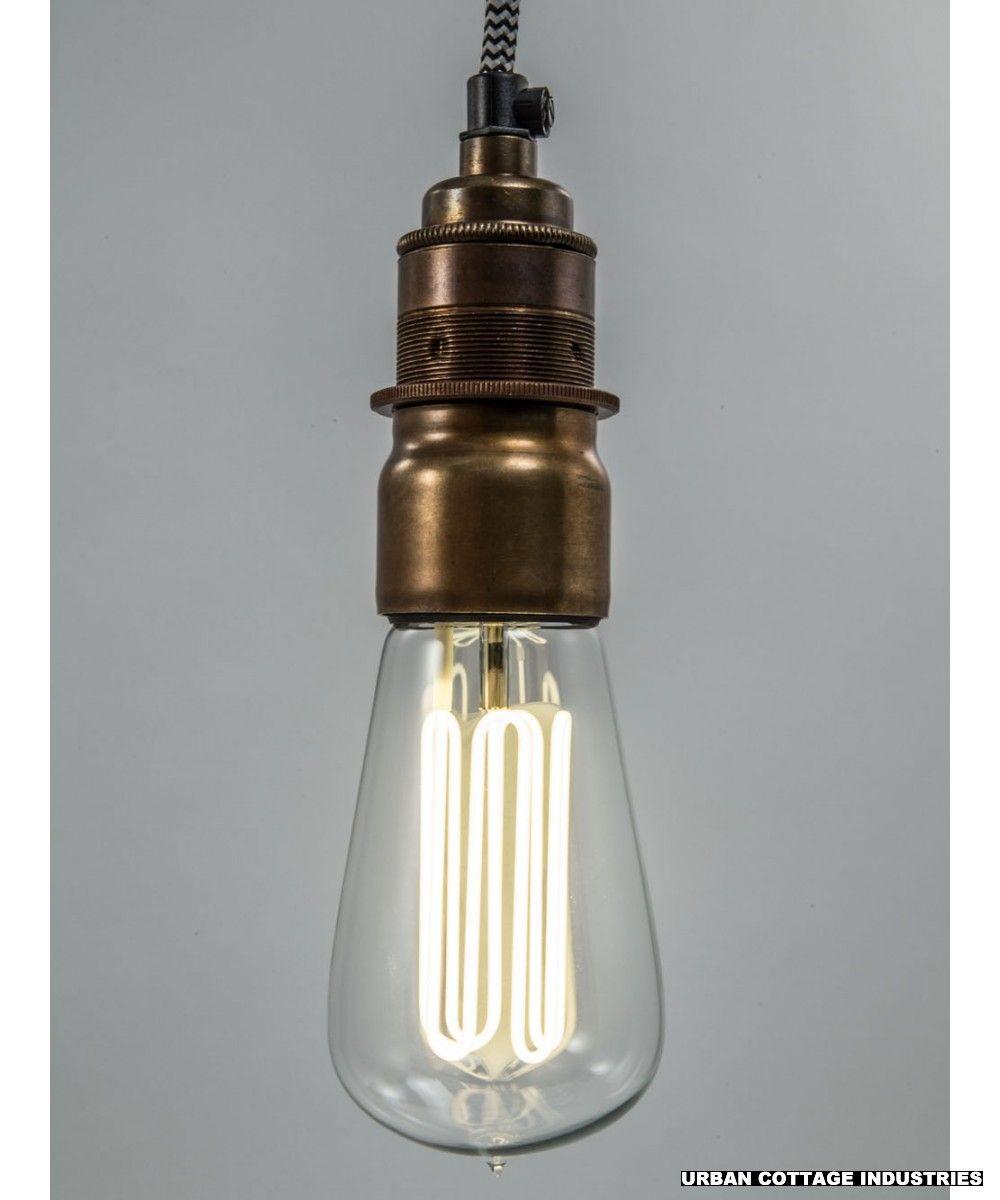 Caret lamp | with vintage brass E27 bulb holder | Home Decor Ideas ... for Bulb Holder Design  61obs