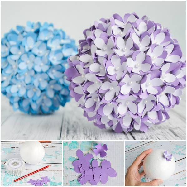 Creative Ideas Diy Paper Flower Kissing Ball For Wedding Crafts