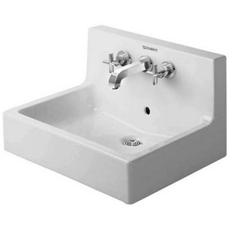 Vero White Alpin Vitreous China Rectangular Wall Mount Bathroom Sink With Overflow Wall Mounted Bathroom Sinks Wall Mounted Sink Porcelain Bathroom Sink
