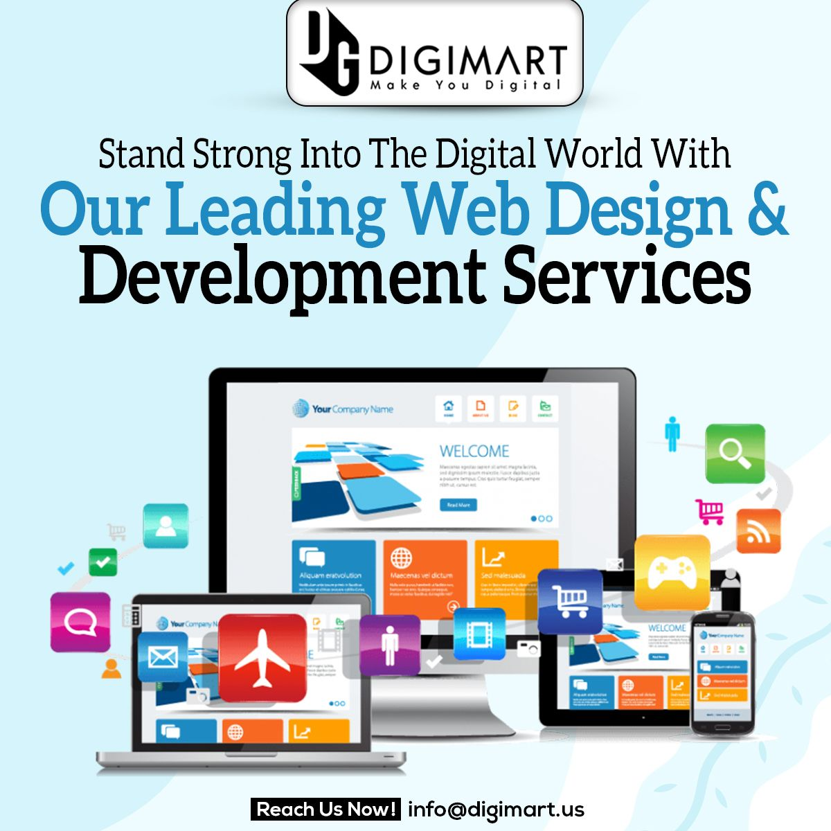 Stand Strong Into The Digital World With Our Leading Web Design Development Services In 2020 Web Development Design Video Development Digital Marketing