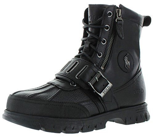 Polo Ralph Lauren Andres III Men's Ankle Hiking Boots Black Size 14 ***  Check