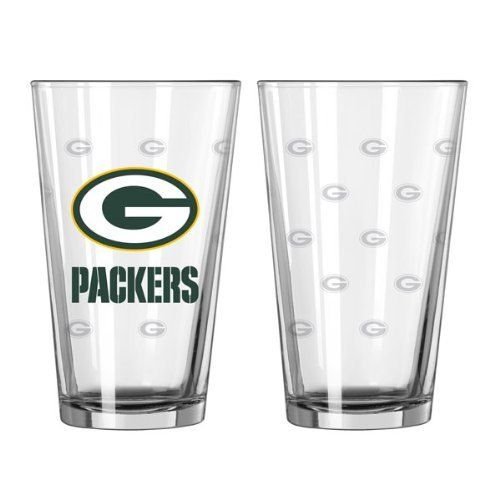 Nfl Green Bay Packers 16oz Satin Etch Pint Glass By Boelter 11 99 A Great Addition To Your
