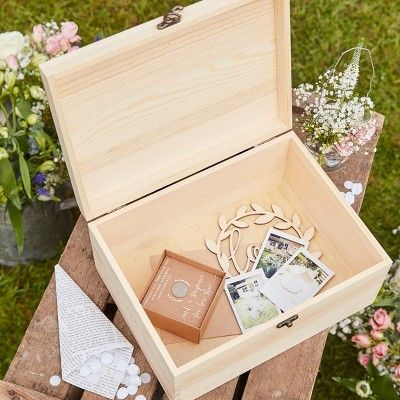 Ginger Ray Memory Box Braun  final ending Burgundynavy wedding 2019