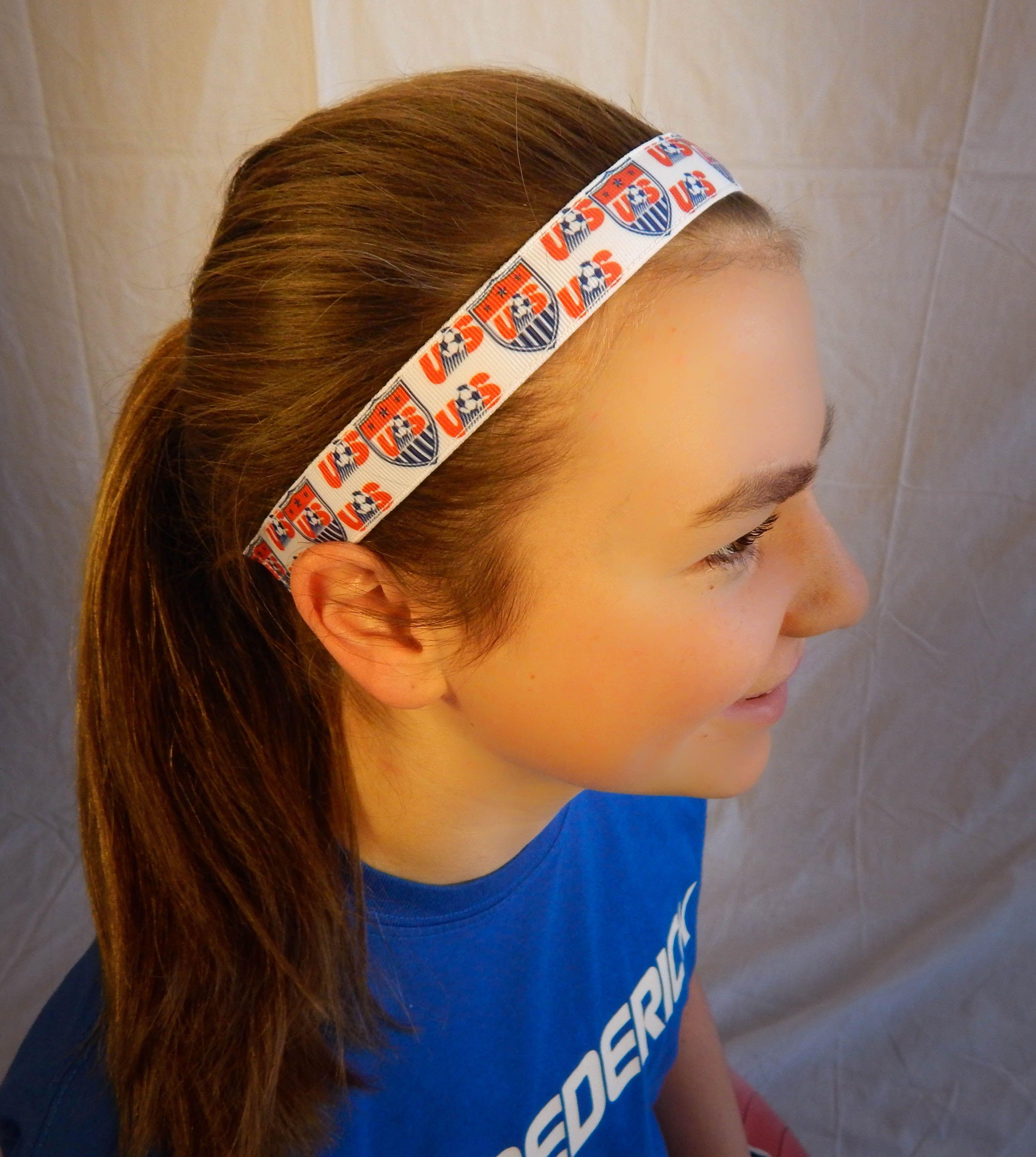 Usa Soccer Soccer Girl Girls Headbands Usa Soccer