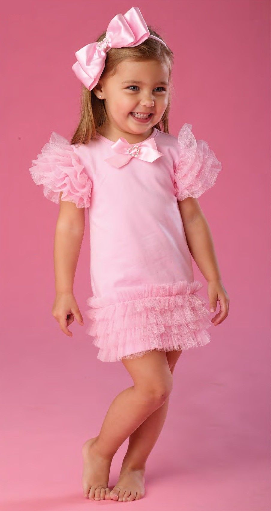 Mud Pie Pretty In Pink Tiered Mesh Dress Fashion For