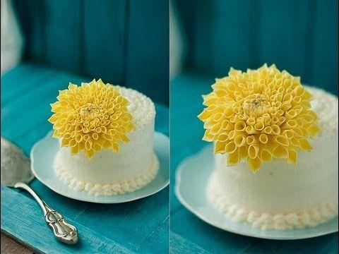 ▶ Tutorial Fiori in Pasta Zucchero ,Gumpaste Dahlia Flower - YouTube