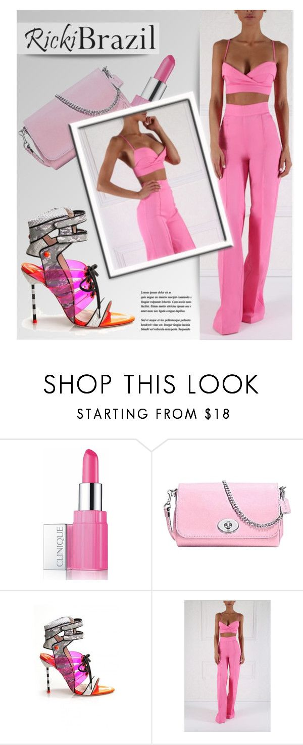 """""""RickiBrazil.com"""" by monmondefou ❤ liked on Polyvore featuring Clinique, Coach, Sophia Webster and rickibrazil"""