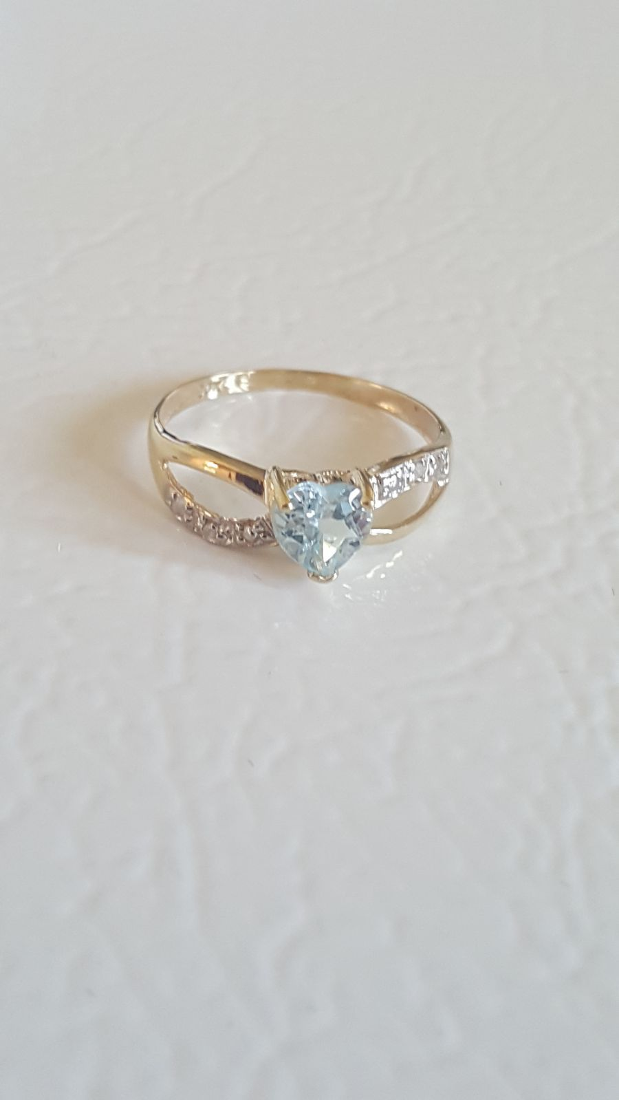 Price Is Firm 10kt Gold Blue Topaz Ring Sz 7 5 Xrayed And Verified As 10kt Gold Natural Diamond Tested Genuine Blue Topaz Blue Topaz Ring 10kt Gold Rings