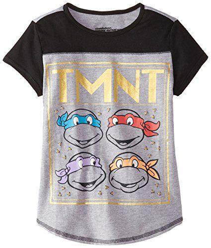 Teenage Mutant Ninja Turtles Big Girls' Jersey Colorblock Baseball Tee, Heather Grey/Black, Small Nickelodeon http://www.amazon.com/dp/B00T9TI1MM/ref=cm_sw_r_pi_dp_iqNUvb1RD4MBV