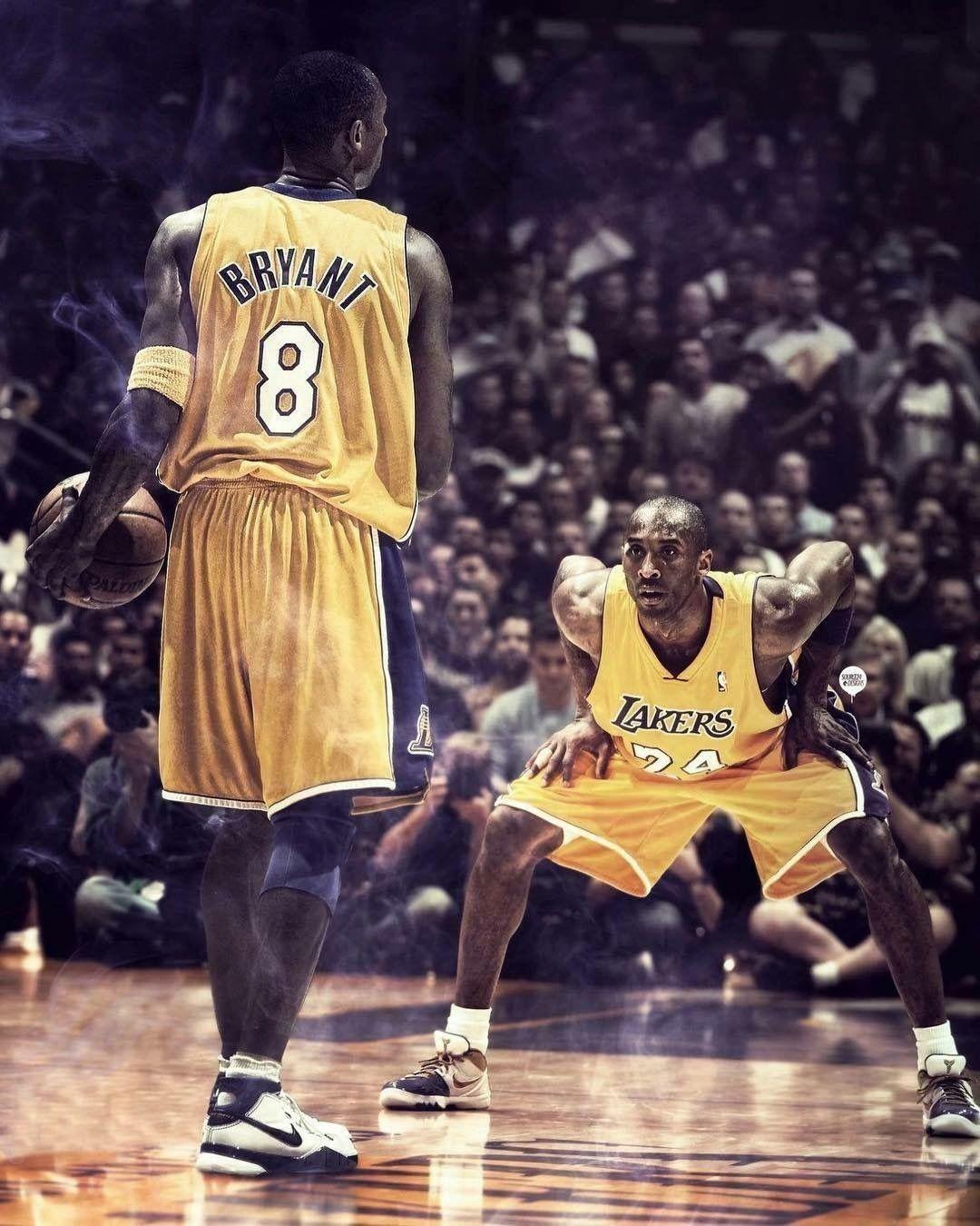8 vs 24 Kobe bryant wallpaper, Lakers kobe