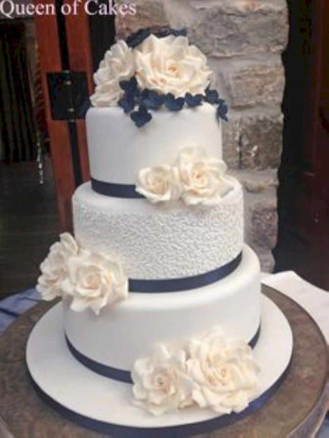 99 Amazing Navy Blue Wedding Cakes for Different Touch