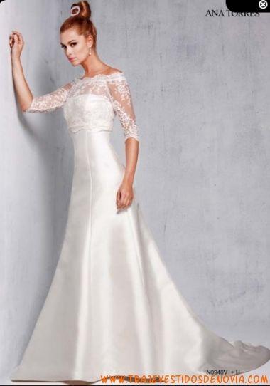 n0940v vestido de novia ana torres | vestidos de novia palencia