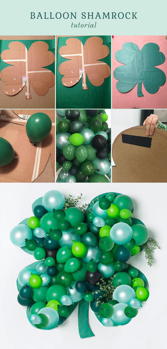 super easy diy balloon shamrock st patrick s day on simply wall street id=45727