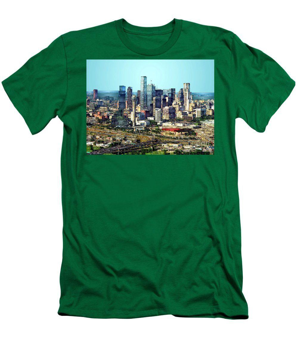 Men's T-Shirt (Slim Fit) - Dallas Skyline