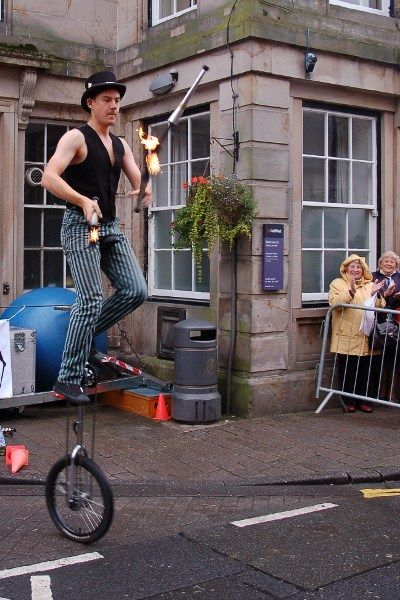 Fire Juggling, Unicyclists.  We have some fantastic Circus themed performers get in touch to discuss your event.  (EG)