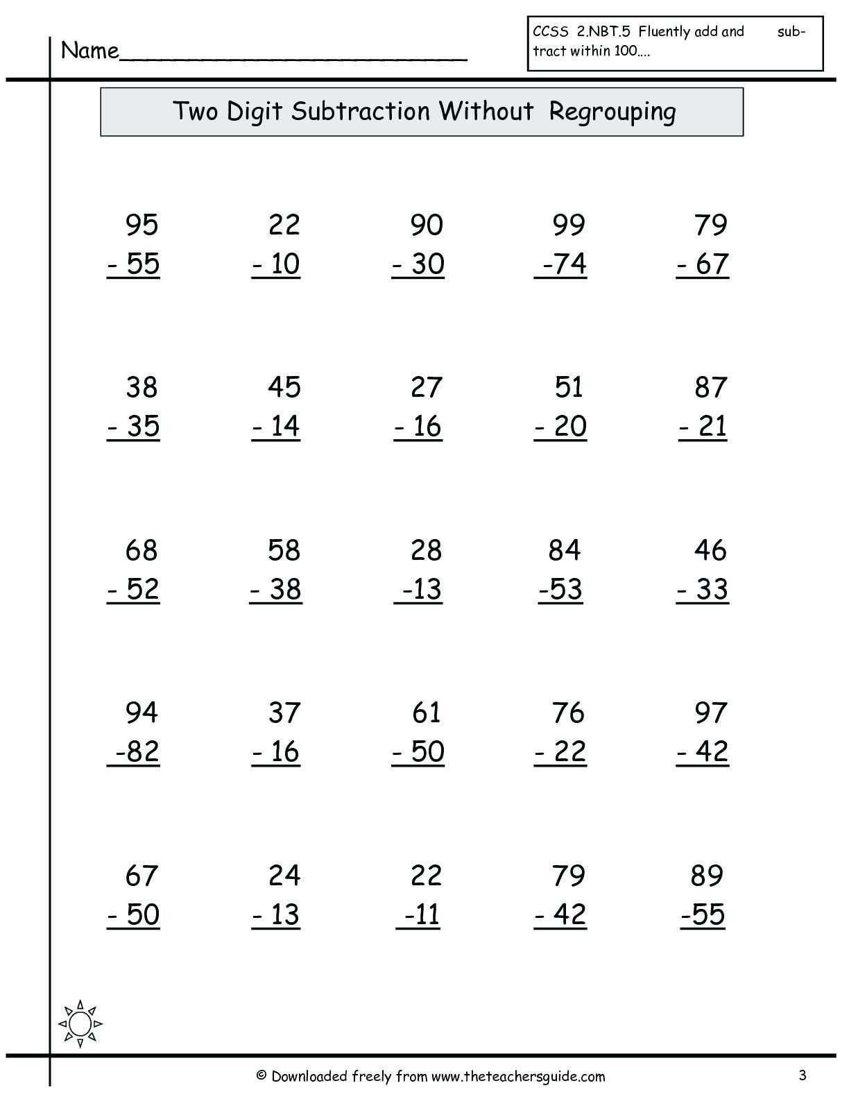 Subtract Across Zeros Worksheet Subtracting Across Zeros Worksheet Grade 3 Math Worksheets Subtraction Worksheets Subtraction