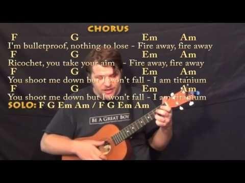 Titanium David Guetta Bariuke Cover Lesson In C With Chordslyrics
