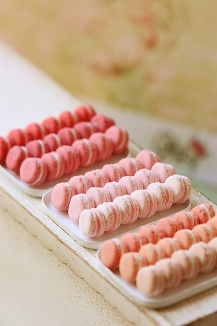 franceses Macarons