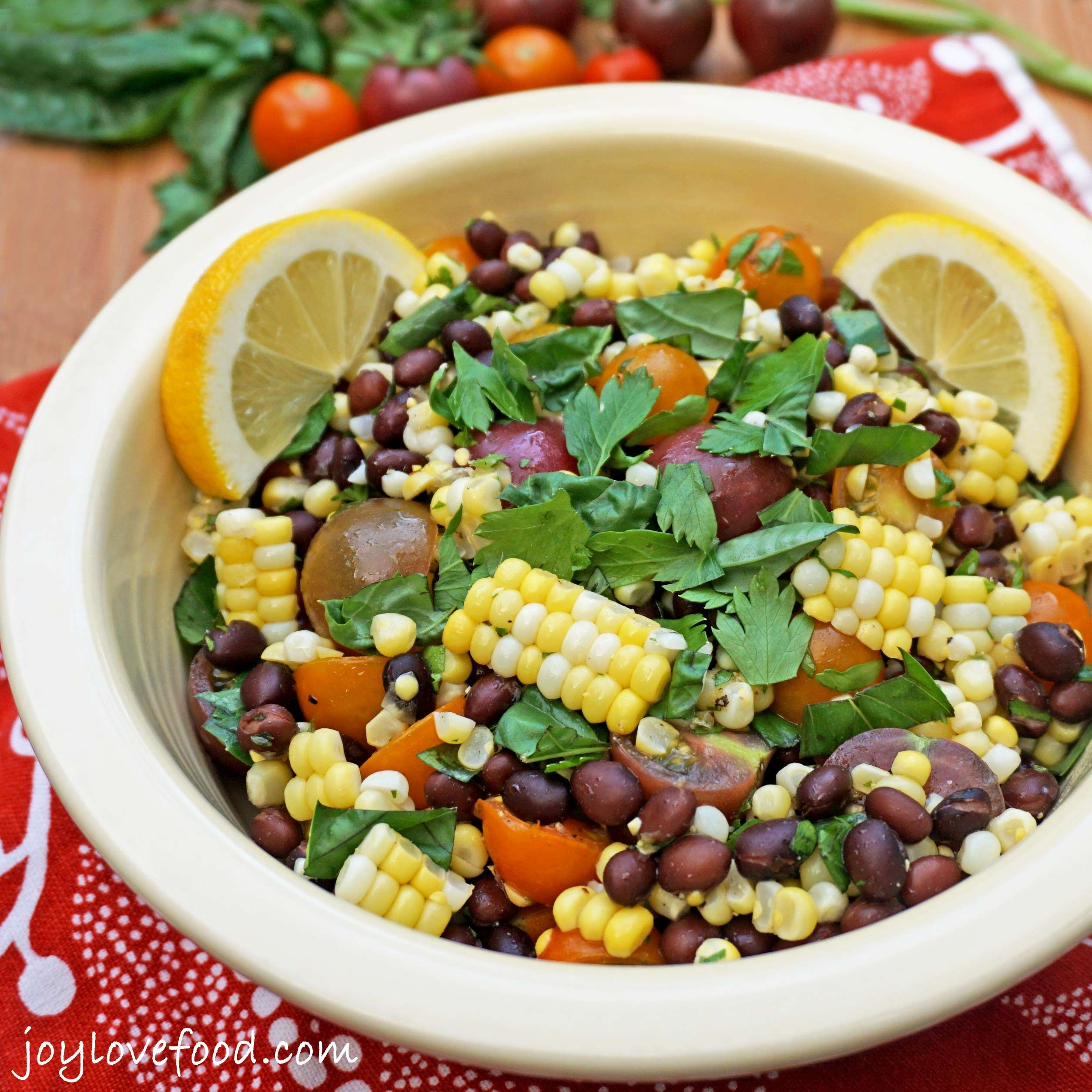 Tomato Corn and Black Bean Salad -  JoyLoveFood