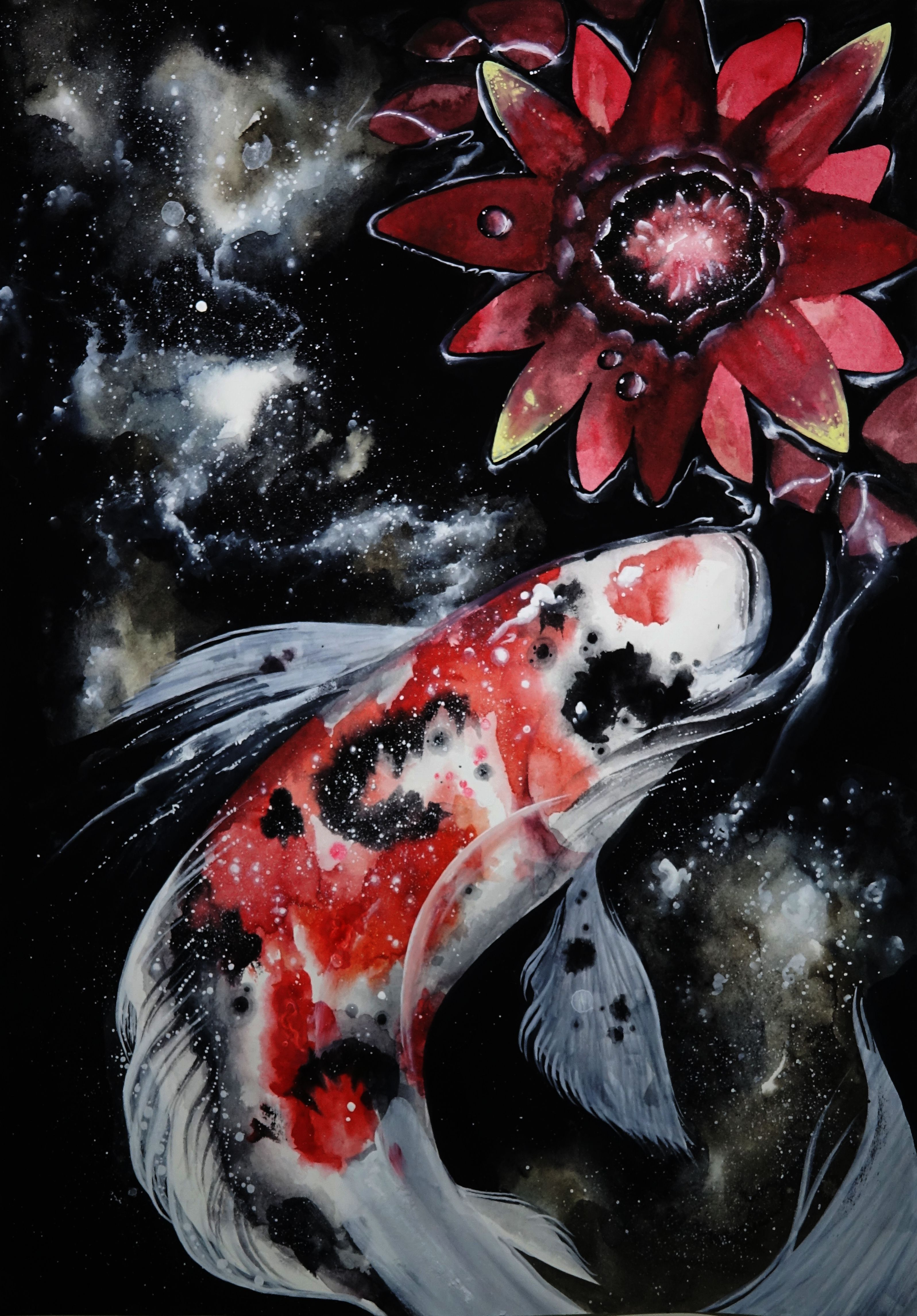 Koi Fish & Silent Pond | My Watercolor Paintings | Pinterest | Koi