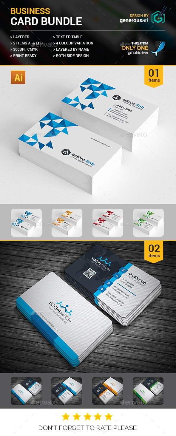 Business card bundle 2 in 1 corporate business card template business card bundle 2 in 1 corporate business card template vector eps vector ai cheaphphosting Gallery
