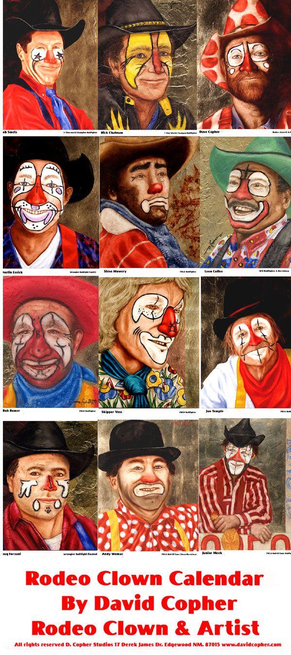 Calendar Costume Ideas : Rodeo clown calendar clowns carnivals and circuses