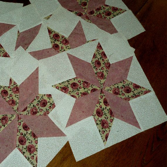 All Stitches Pinwheel Piecing Quilt Block Pattern Pdf 105a Pinwheel Quilt Pattern Star Quilt Blocks Quilt Block Tutorial