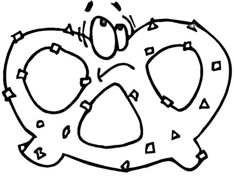 Pretzel Coloring Page From Snacks Category Select From 26844