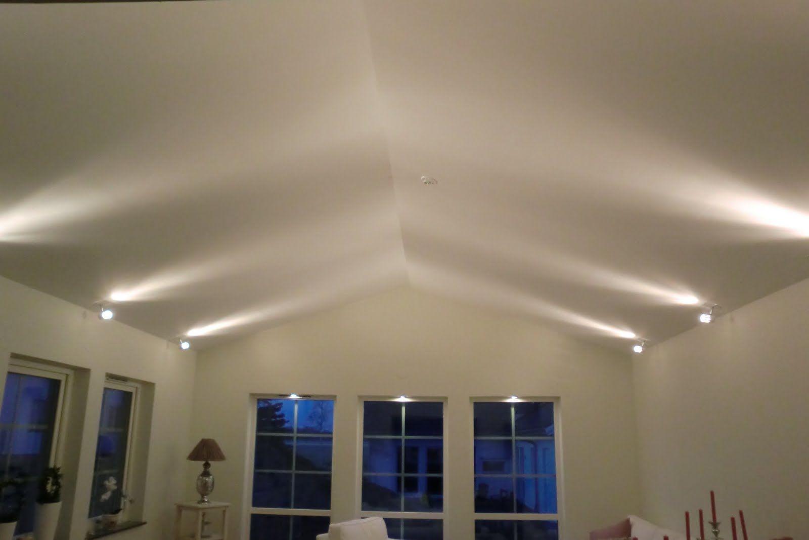 spotlights tak | Belysning tak, Belysning vardagsrum