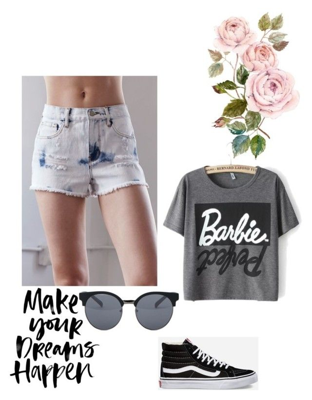 """""""Barbie girl"""" by chicky5555-1 ❤ liked on Polyvore featuring Bullhead Denim Co., Vans and Quay"""