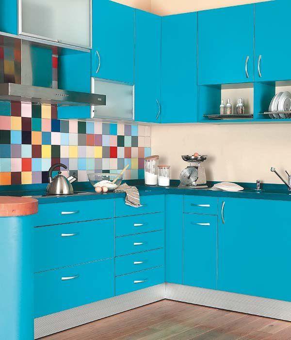 Una Cocina En Color Turquesa Cocinas Cocina Azul Muebles De