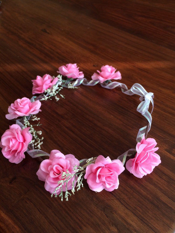 Sale flower headband crown pink boho bridal by naturvibes on etsy sale flower headband crown pink boho bridal by naturvibes on etsy https izmirmasajfo Gallery