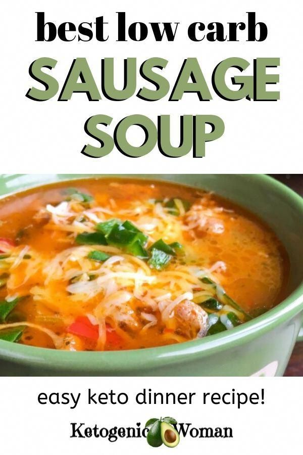 Im in love with this low carb keto sausage soup Made with spinach and peppers this low carb keto meal is going in my recipe book Make it in the instant pot or stovetop It...
