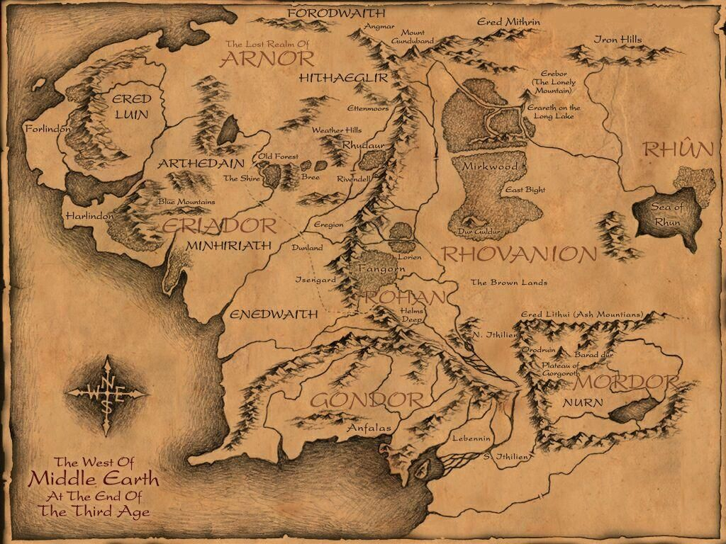 Good Middle Earth map for those wondering