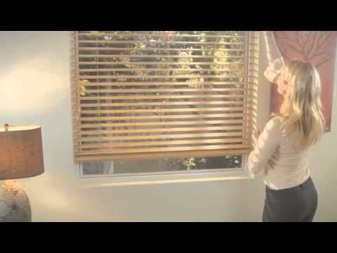 Here S A Video Showing You How To Use Standard Cord Lift And Tilt Control Wood Blinds Very Useful Information For Those Blinds Wood Blinds Blinds For Windows