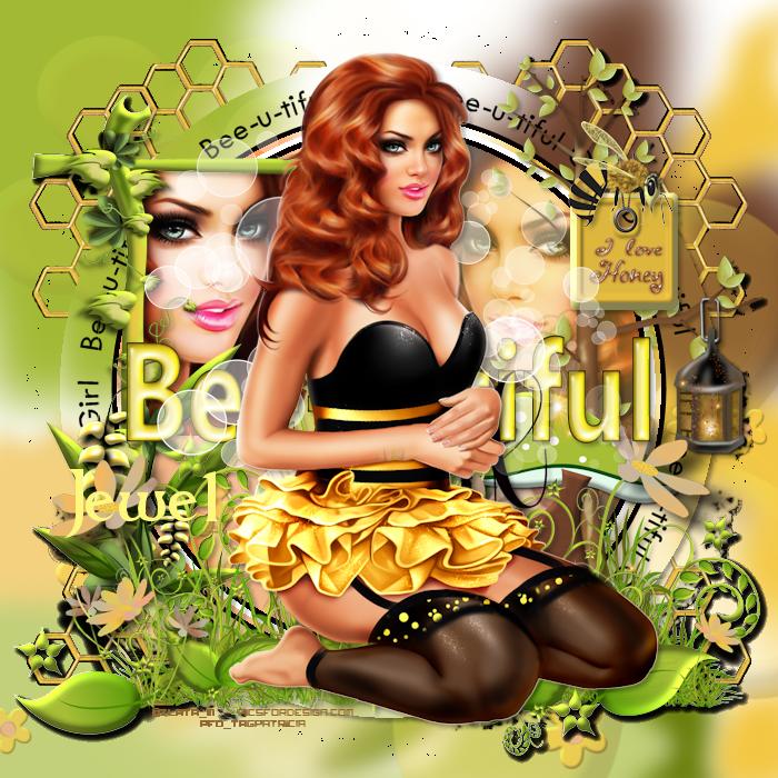 Délire2scrap Tutorials: FTU - Bee-U-tiful Girl