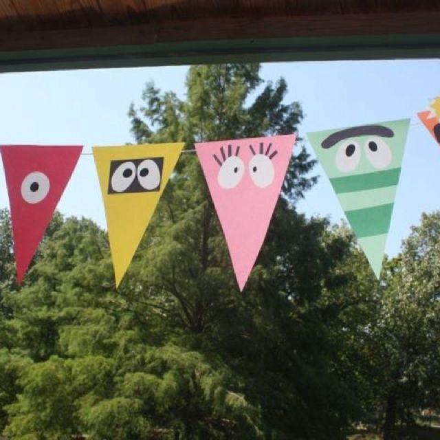 Yo Gabba Gabba Pendant Banner Birthday Party Ideas Pinterest Magnificent Yo Gabba Gabba Bedroom Decor