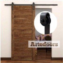 guia rstica para puerta corredera de madera 180m - Guia Puerta Corredera