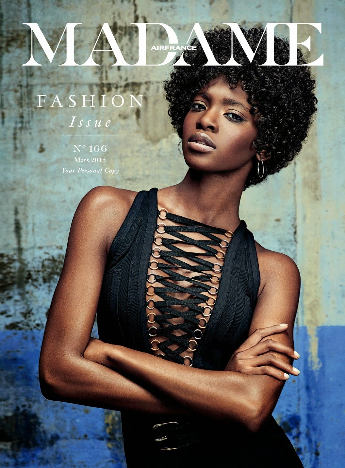 """Remember My Name"" Marie Fofana by Christian Anwander for Air France Madame March 2015"