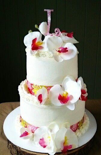 hawaiian luau themed bridal shower cake uppervalleybakedgoodscom
