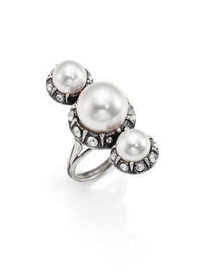 Faux-perle Et La Bague Embelli Cristal-lanvin ODQz7kvnQ