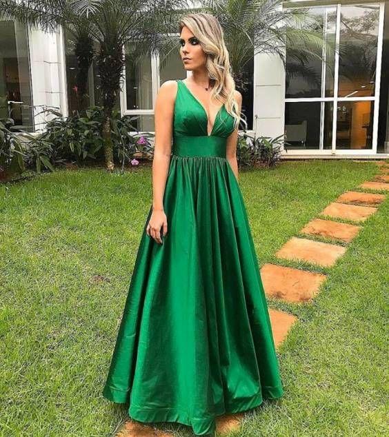 d9732f3153 vestido de festa verde modelo gode