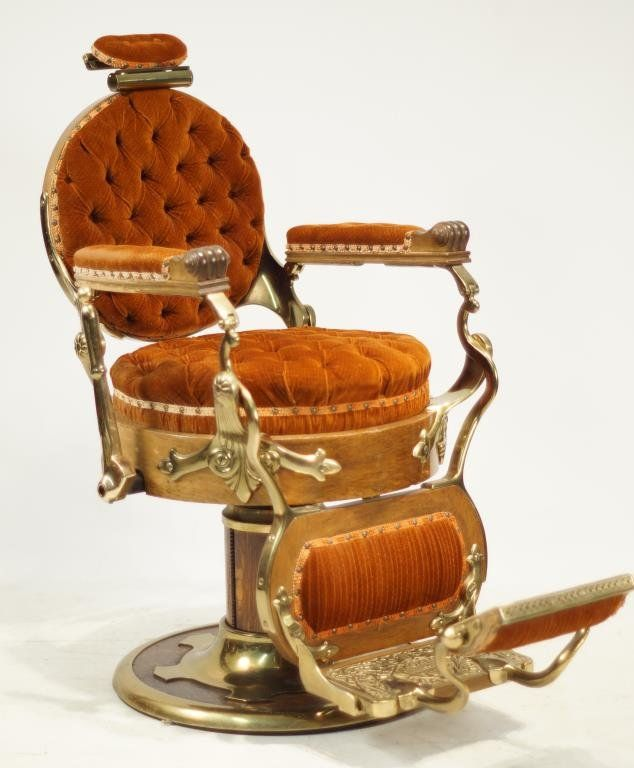 koken barber chair congress model ca 1890 : lot 218   vintage
