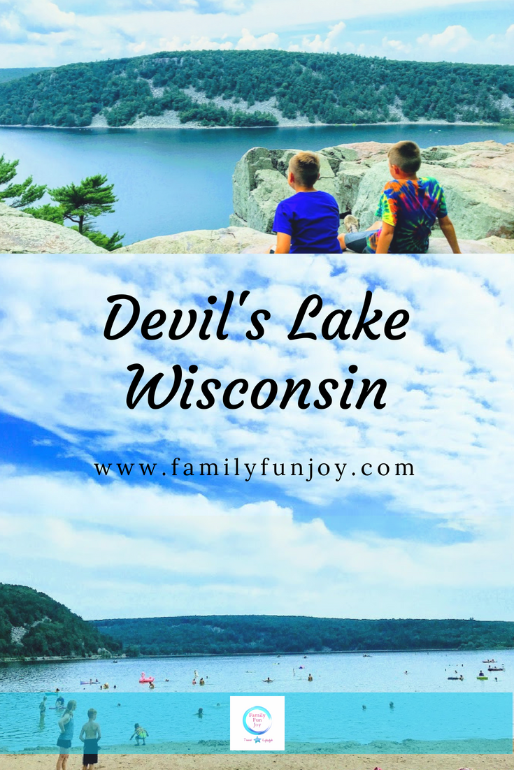 the most popular state park in wisconsin, devil's lake. this park is