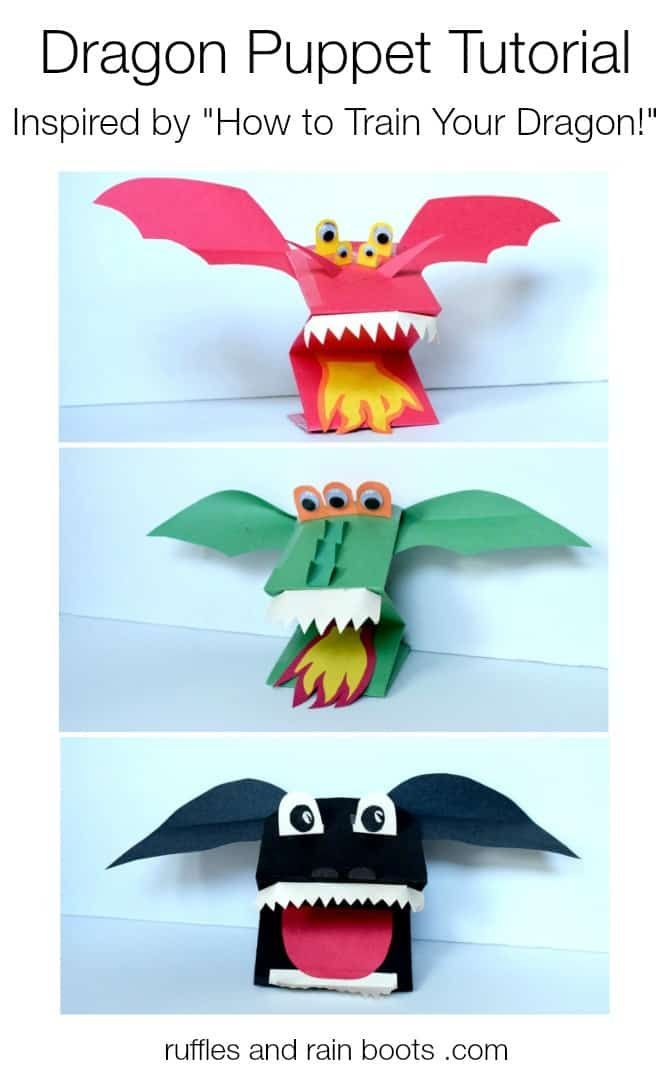 Easy Paper Dragon Puppets (That Look Awesome)!